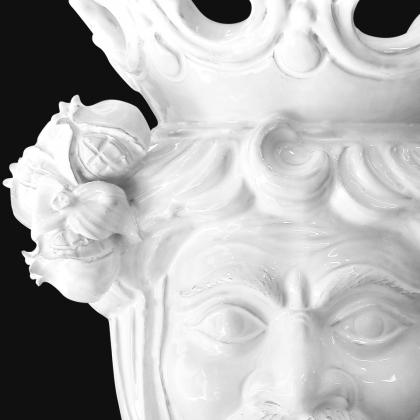Testa h 40 melograni white line maschio - Teste di moro moderne Sofia Ceramiche