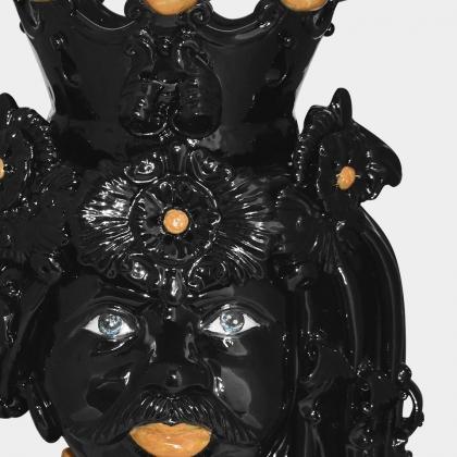 Ceramic Head h 50 black orange male