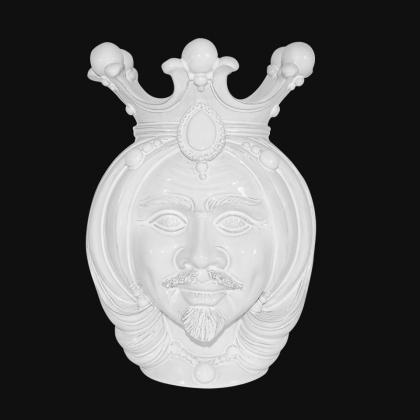 Testa h 38 white line maschio - Teste di moro moderne Sofia Ceramiche