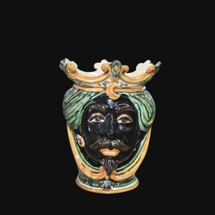 Ceramic Head h 25 green/orange male