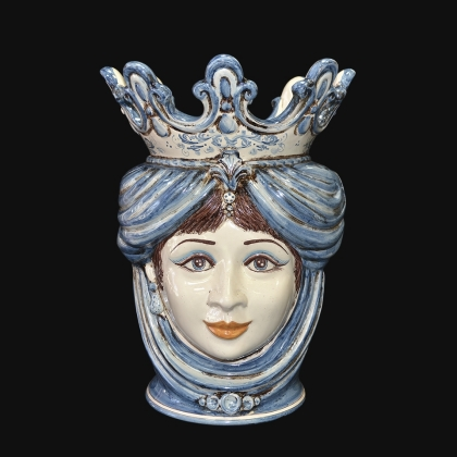 "Sicilian ceramic ""Moor's head"" with pomegranates from Caltagirone."
