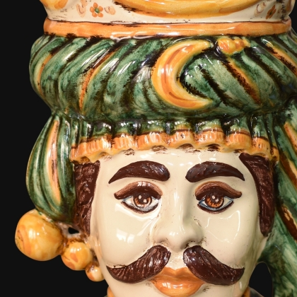 Ceramic Head h 20 green/orange male