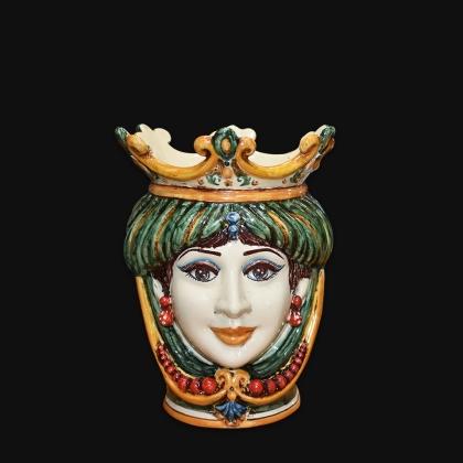 Head h 25 with beads green/orange female