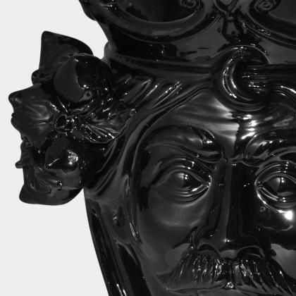 Ceramic Head with lemons h 25 black line male
