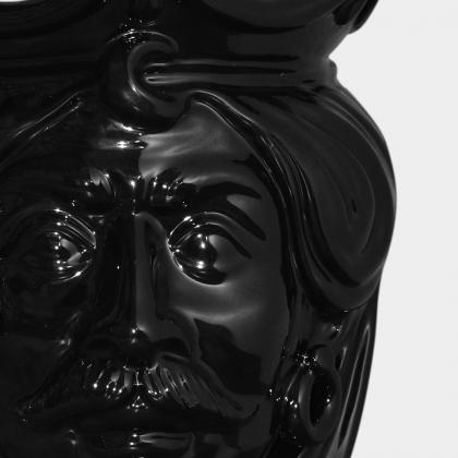 Testa h 25 liscia black lucido maschio