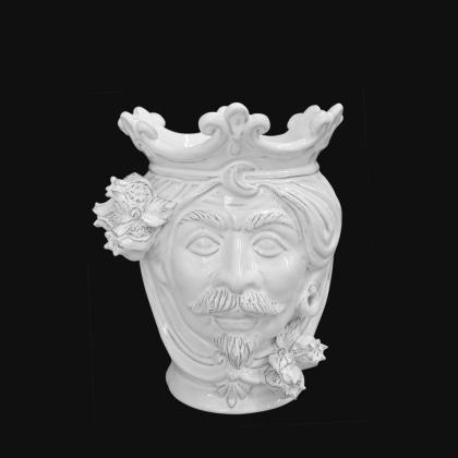 Testa h 25 melograni white line maschio - Teste di moro moderne Sofia Ceramiche